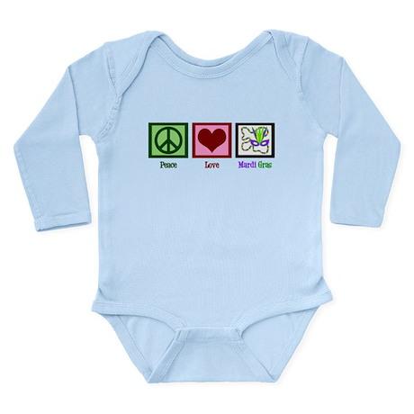 Mardi Gras Long Sleeve Infant Bodysuit