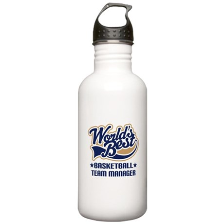 Basketball Team Manager Stainless Water Bottle 1.0
