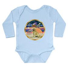 XmasStar/Golden #1 Long Sleeve Infant Bodysuit