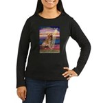 Blessed Golden Women's Long Sleeve Dark T-Shirt
