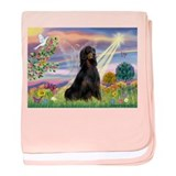 Cloud Angel & Gordon Setter baby blanket