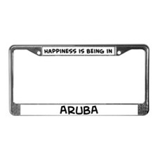Happiness is Aruba License Plate Frame