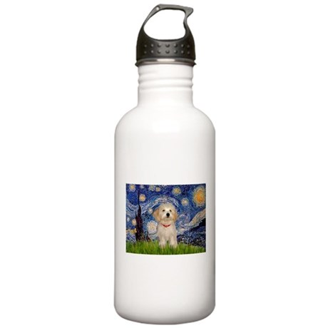 Starry Night Havanese Pup Stainless Water Bottle 1