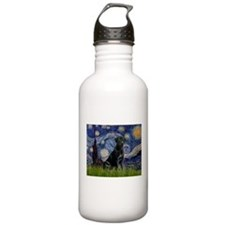 Starry Night Black Lab Water Bottle