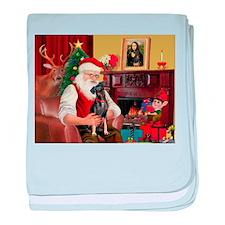 Santa'sMiniature Pinscher baby blanket