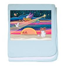 XmasStar/Papillon (s) baby blanket