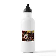 Santa's Papillon Water Bottle