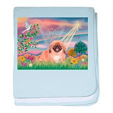 Cloud Angel Pekingese (#1) baby blanket