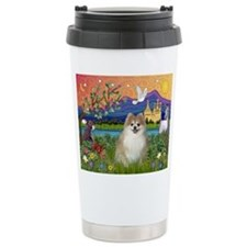Pomeranian in Fantasyland Ceramic Travel Mug