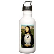 Mona's White Pom Water Bottle