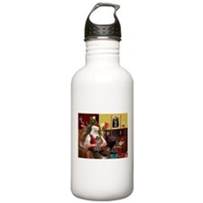 Santa's Silver Toy Poodle Water Bottle