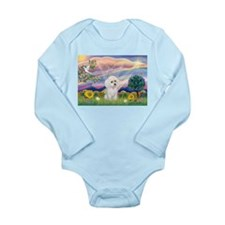 Cloud Angel & White Poodle Long Sleeve Infant