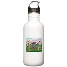 Blossoms/Poodle (silver) #8 Water Bottle