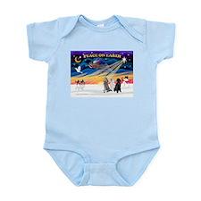 XmasSunrise/3 Std Poodles Infant Bodysuit