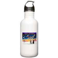 XmasSunrise/3 Std Poodles Water Bottle
