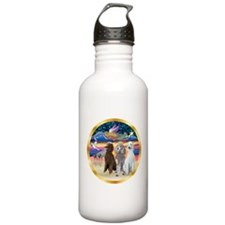 XmasStar/3 Poodles Std Water Bottle
