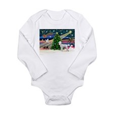Xmas Magic & Poodle Long Sleeve Infant Bodysuit