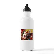Santa's Two Pugs (P1) Water Bottle