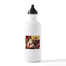 Santa's fawn Pug (#21) Water Bottle