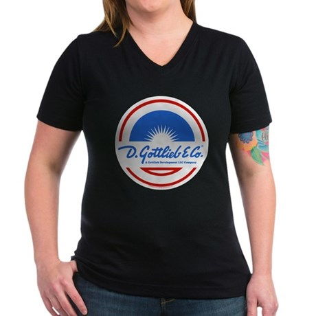 "Gottlieb® ""Sunburst"" Logo Women's V-Neck Dark"
