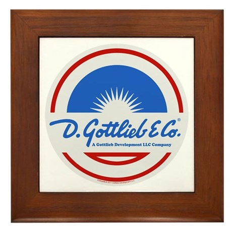 "Gottlieb® ""Sunburst"" Logo Framed Tile"