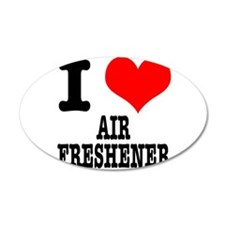 I Heart (Love) Air Freshener 22x14 Oval Wall Peel