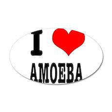 I Heart (Love) Amoeba 38.5 x 24.5 Oval Wall Peel