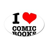 I Heart (Love) Comic Books 38.5 x 24.5 Oval Wall P