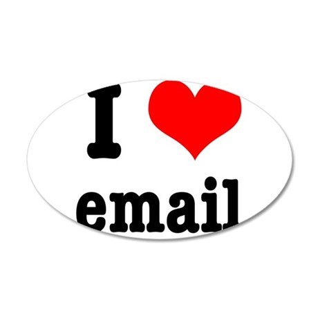 I Heart (Love) Email 38.5 x 24.5 Oval Wall Peel