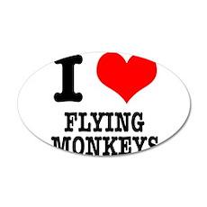 I Heart (Love) Flying Monkeys 38.5 x 24.5 Oval Wal