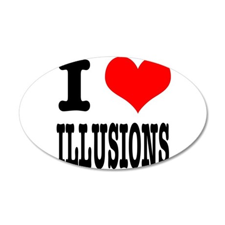 I Heart (Love) Illusions 38.5 x 24.5 Oval Wall Pee