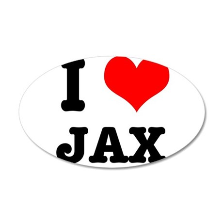 I Heart (Love) Jax 38.5 x 24.5 Oval Wall Peel