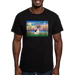 Guardian /Rat Terrier Men's Fitted T-Shirt (dark)