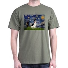 Starry Night / Rat Terrier T-Shirt