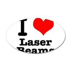 I Heart (Love) Laser Beams 22x14 Oval Wall Peel