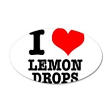 I Heart (Love) Lemon Drops 22x14 Oval Wall Peel