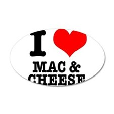 I Heart (Love) Mac & Cheese 22x14 Oval Wall Pe