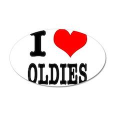 I Heart (Love) Oldies 22x14 Oval Wall Peel
