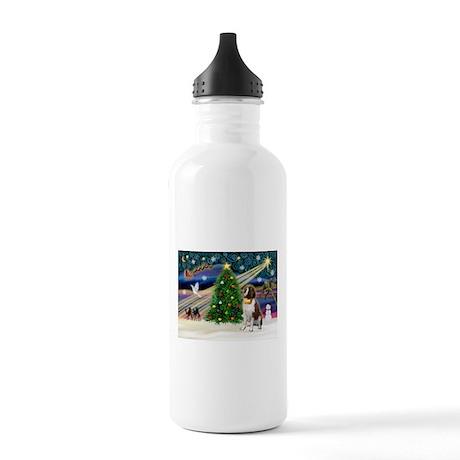 Xmas Magic & St Bernard Stainless Water Bottle 1.0