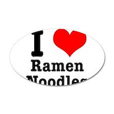 I Heart (Love) Ramen Noodles 38.5 x 24.5 Oval Wall