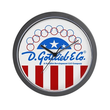 "Gottlieb® ""Stars & Stripes"" Logo Wall Clock"