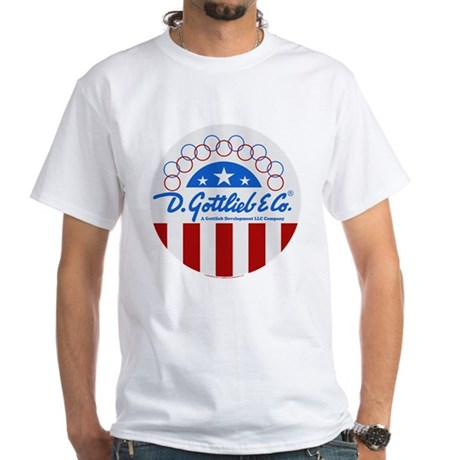 "Gottlieb® ""Stars & Stripes"" Logo White T-Shirt"