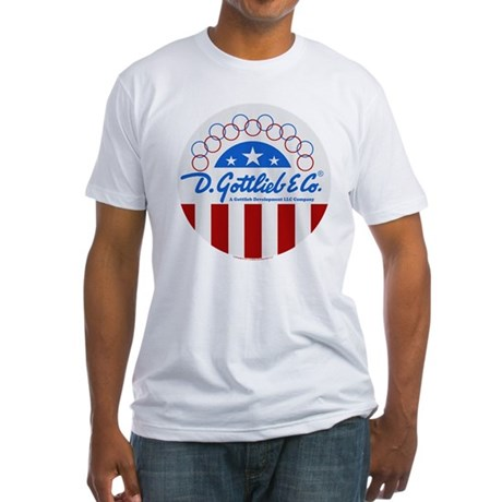 "Gottlieb® ""Stars & Stripes"" Logo Fitted T-Shir"