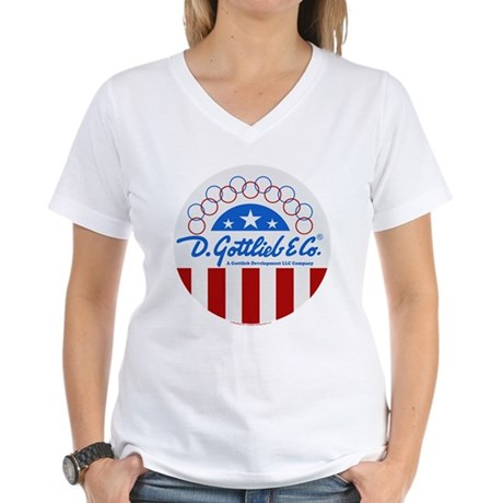"Gottlieb® ""Stars & Stripes"" Logo Women's V-Nec"