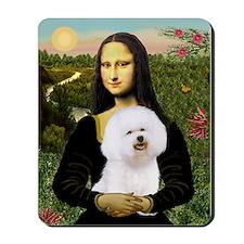 Mona & her Bichon (#1) Mousepad