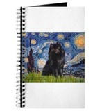 Starry Night Schipperke Journal