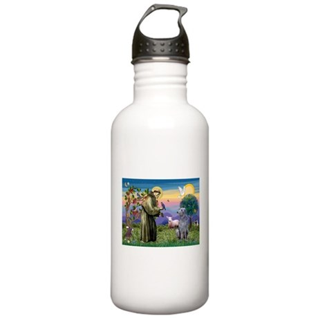 St Francis Deerhound Stainless Water Bottle 1.0L