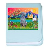 Deerhound in Fantasy Land baby blanket