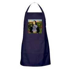 Mona & her Deerhound Apron (dark)