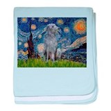 Starry Night Deerhound baby blanket
